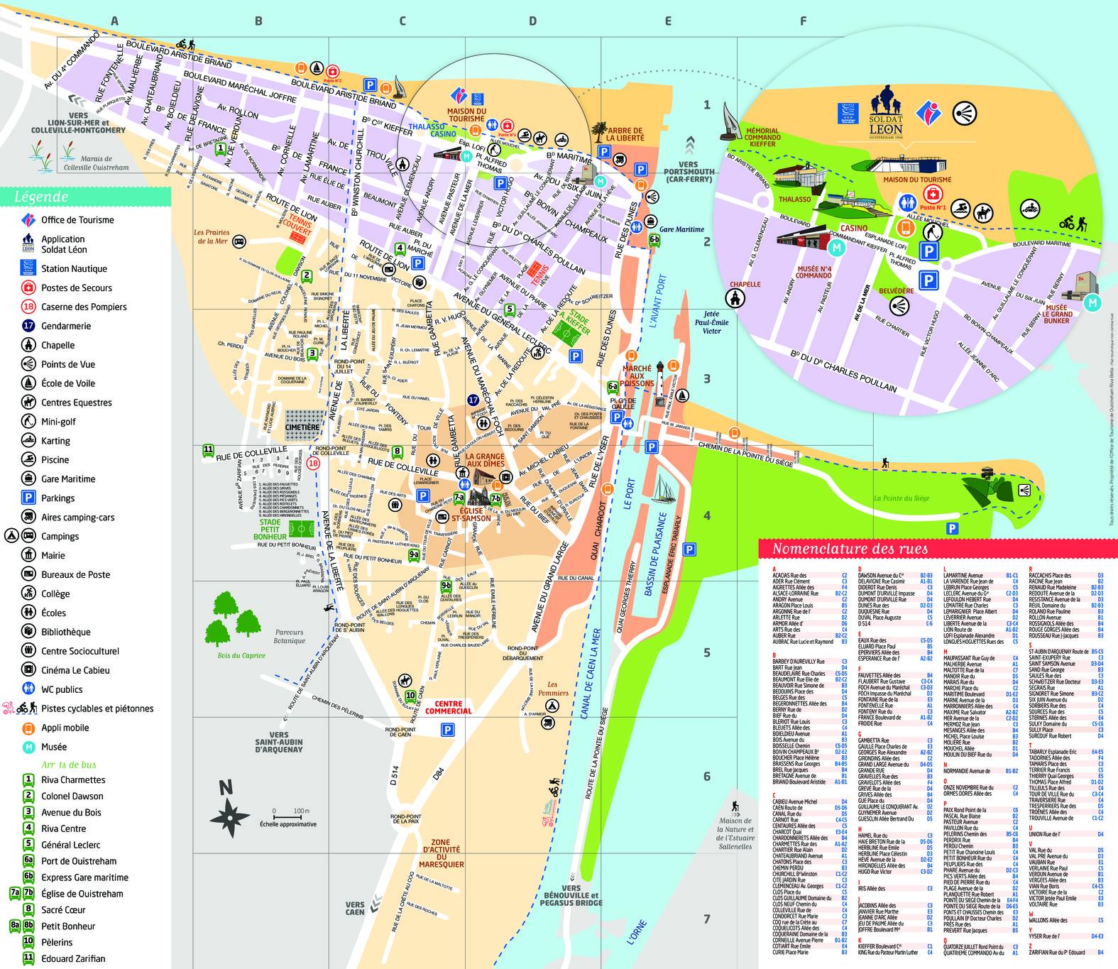 Plan de Ouistreham Riva-Bella - édition 2016