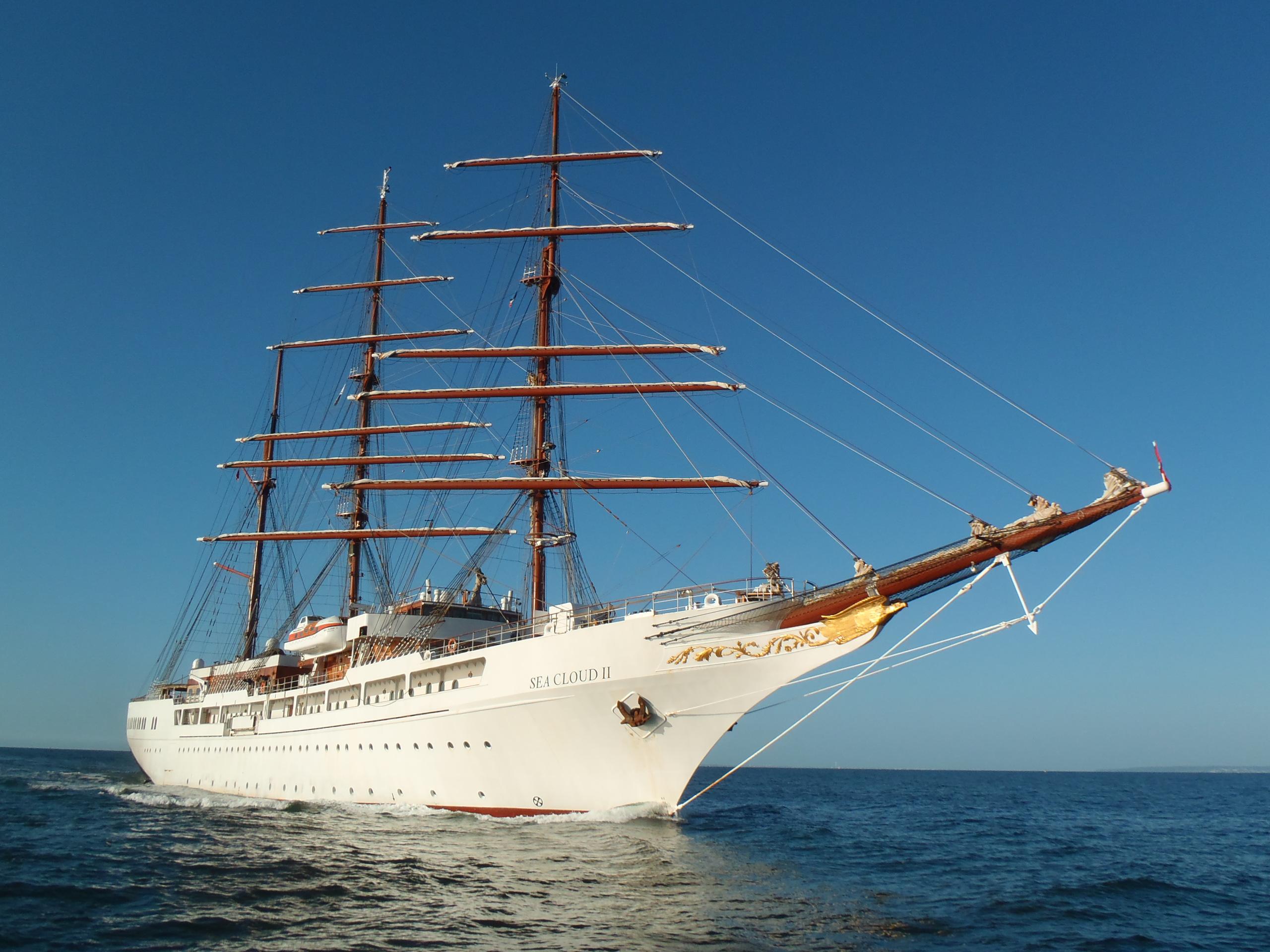 Le bateau de croisière « Sea cloud II »