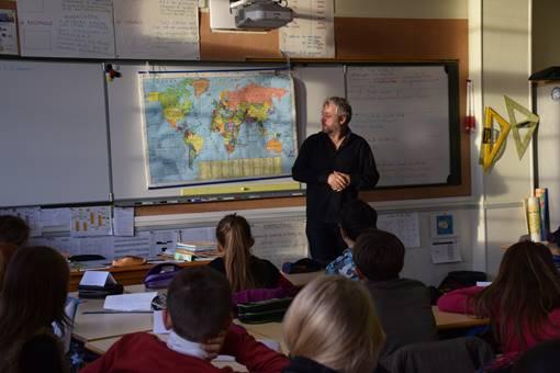 Yvan Bourgnon à l'école Charcot de Ouistreham Riva-Bella