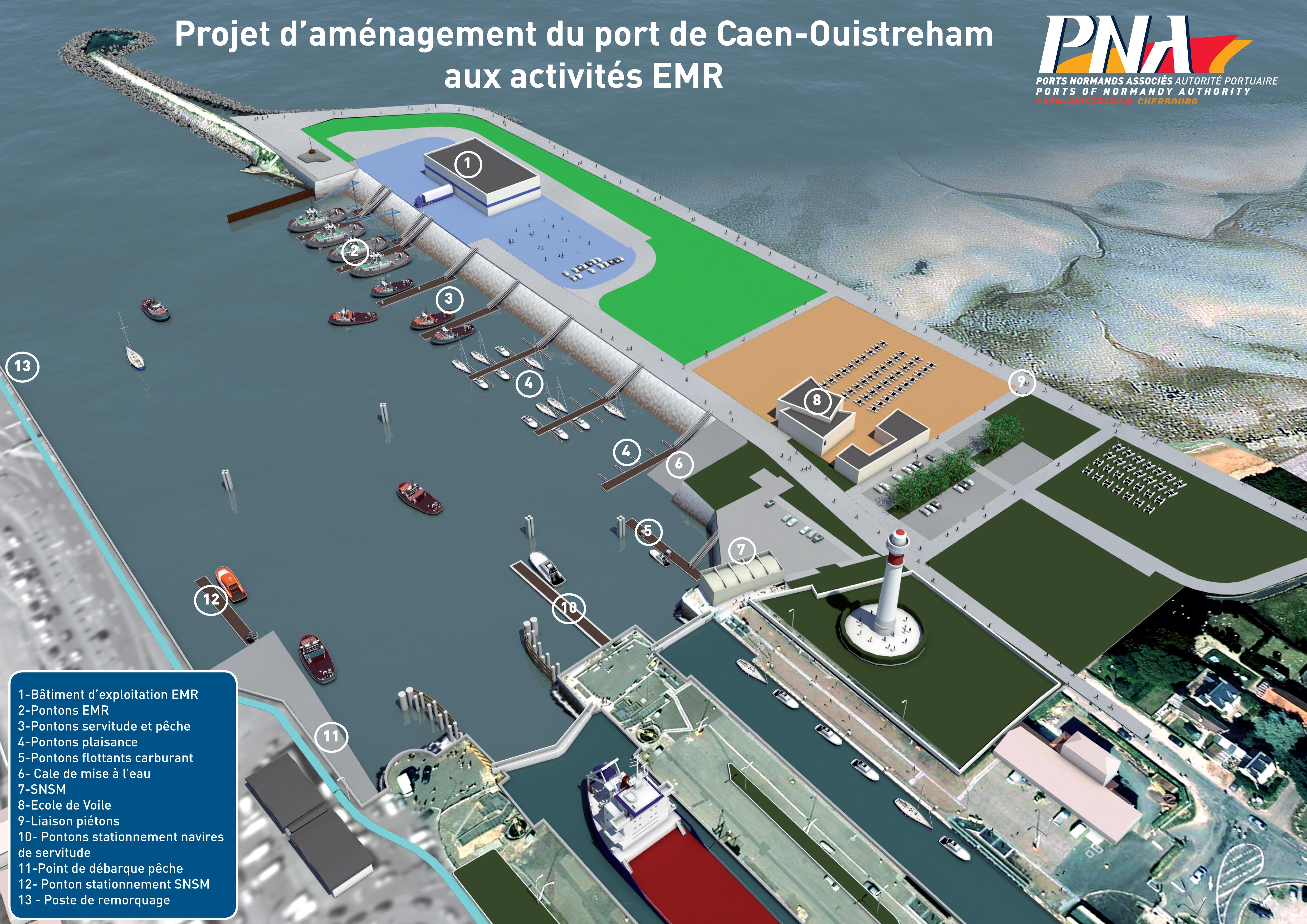 Projet d'aménagement du port de Caen-Ouistreham aux activités EMR