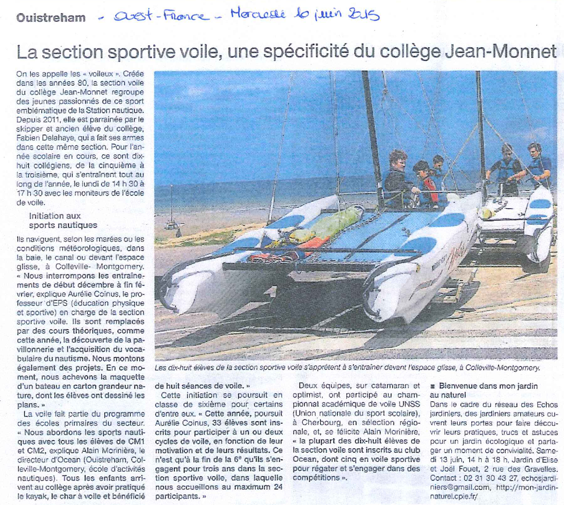 article-ouest-france-section-nautique