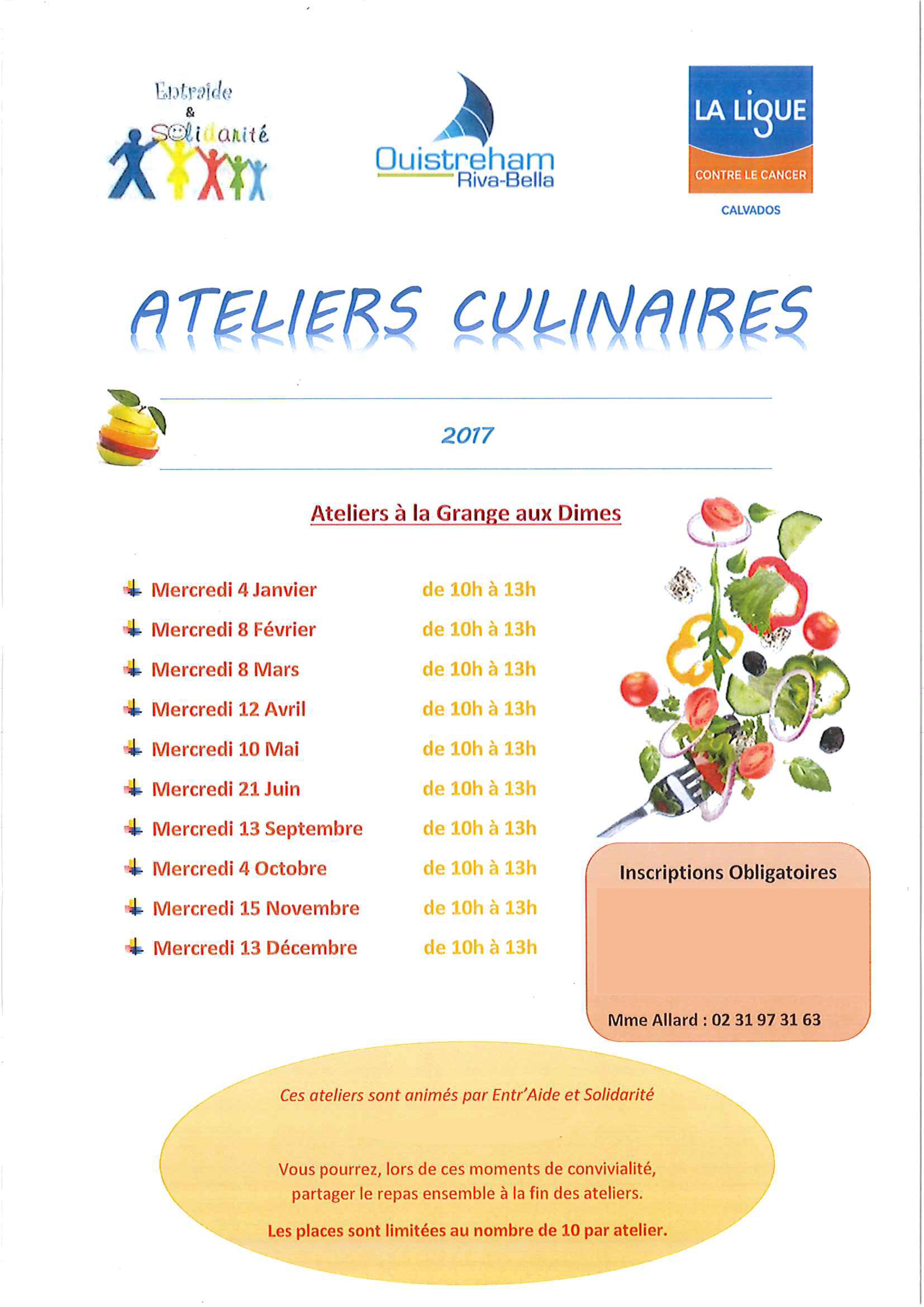 Atelier culinaire avec la ligue contre le cancer et - Cuisiner avec les aliments contre le cancer pdf ...