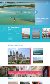 Site Caen la mer Tourisme