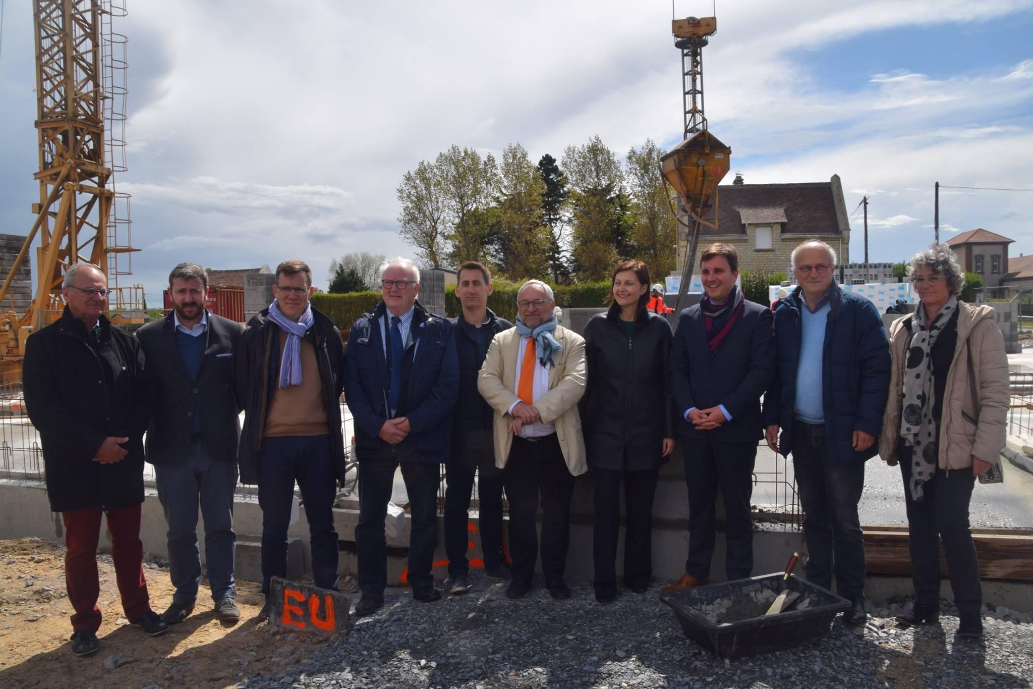 Pose de la première pierre du CANO, le jeudi 25 avril 2019