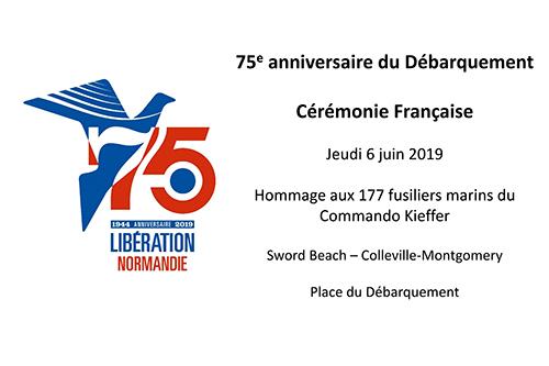 75e anniversaire du Débarquement - Cérémonie Française à Colleville-Montgomery