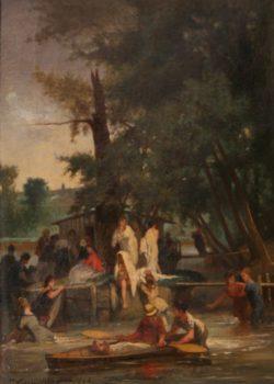 Jules Cornillier, la Grenouillère, Croisset 1864