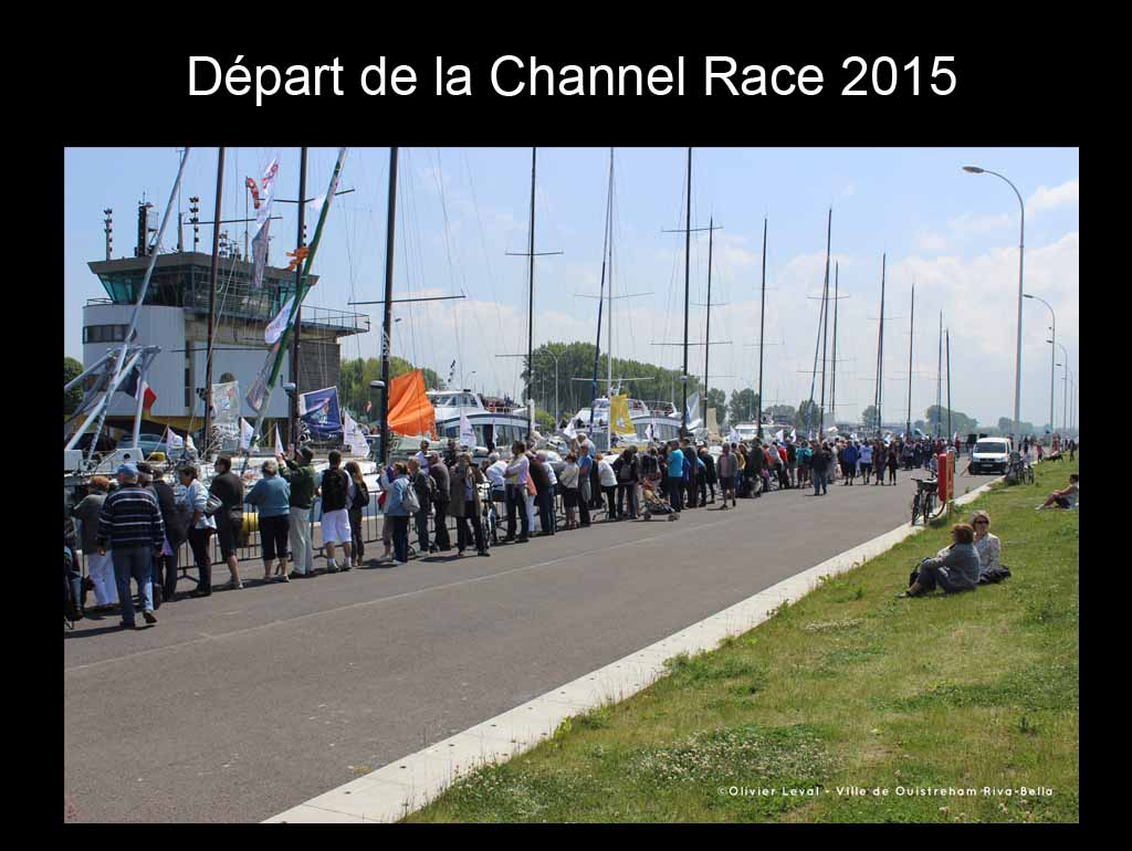 Départ de la Channel race 2015