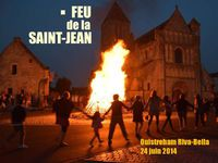 Feu de la Saint-Jean - Ouistreham Riva Bella - 24 juin 2014