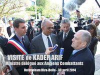 Visite de Kader Arif, Ministre délégué aux Anciens Combattants - Ouistreham Riva Bella - 30 avril 2014